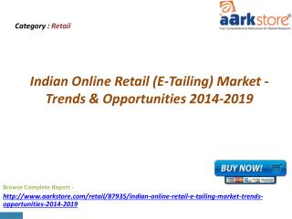 Aarkstore - Indian Online Retail (E-Tailing) Market - Trends