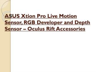 Asus xtion pro live motion sensor, rgb developer and depth s