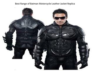 Best Range of Batman Motorcycle Leather Jacket Replica