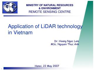 Application of LiDAR technology in Vietnam