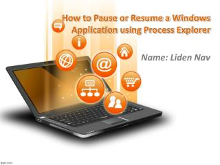 How to Pause or Resume a Windows Application using Process E