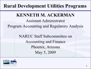 Rural Development Utilities Programs
