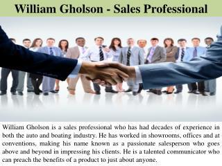 William Gholson - Sales Professional