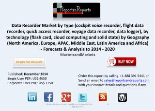 Data Recorder Market Forecasts & Analysis by 2020
