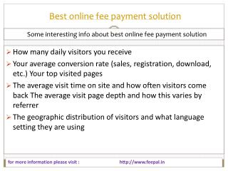 Full support information about best online fee payment solut