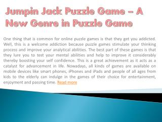 Jumpin Jack Puzzle Game – A New Genre in Puzzle Game