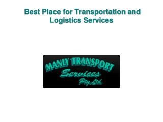 Best Place for Transportation and Logistics Services