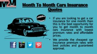 Month To Month Car Insurance Companies