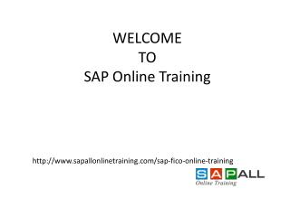 High Quality SAP FICO  online Training At Low Fee