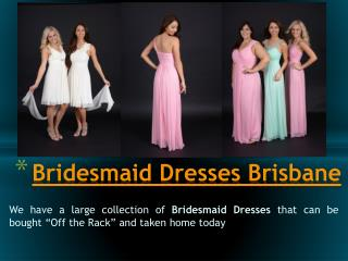 Brisbane Bridesmaid Dresses