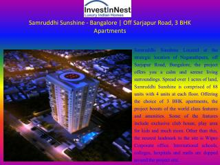 Effective Cost of Residential Apartments at Samruddhi Sunshi