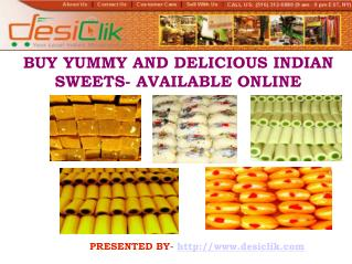 Buy Irresistible Indian Sweets Online
