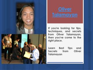 Oliver Talamayan Scam