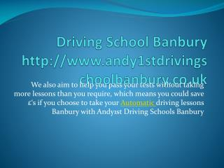 Female driving instructors Banbury | Automatic driving lesso