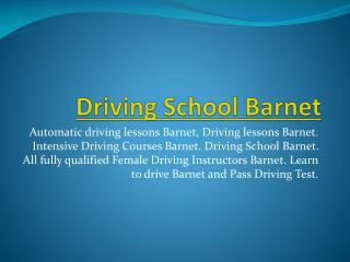 Female driving instructors Barnet | Driving lessons Barnet