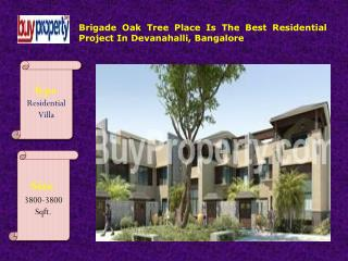 Brigade Oak Tree Place Offers Beautiful Villas In Bangalore
