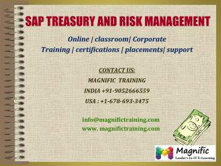 SAP TRM ONLINE TRAINING IN INDIA