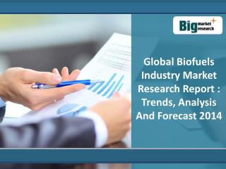 Global Biofuels Industry Market Research Report : Trends, Si
