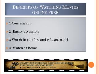 Benefits of Watching Movies Online Free