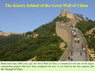 The history behind of the Great Wall of China