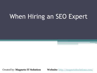 When You Need To Hire an SEO Expert