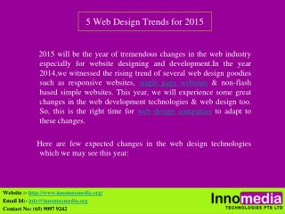 5 Web Design Trends for 2015