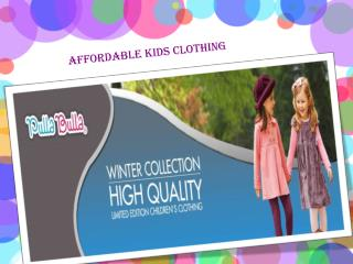 Affordable Kids Clothing