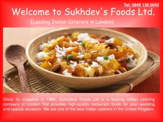 Authentic Indian Caterers in London