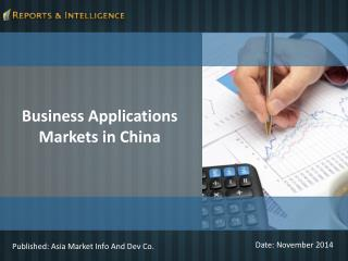 Business Applications Markets in China