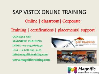 SAP VISTEX ONLINE TRAINING