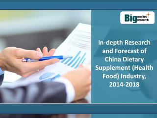 China Dietary Supplement (Health Food) Industry : 2018