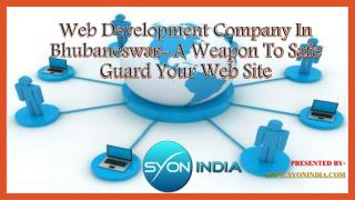 Web Development Company In Bhubaneswar- A Weapon To Safe Gua