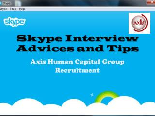 Skype Interview Advices and Tips
