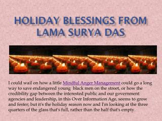 Holiday blessings from Lama Surya Das