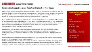 Revamp the Garage Doors and Transform the Look of Your House