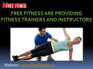 Get good health with fitness trainers and instructors