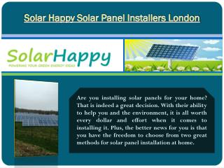 Solar Happy Solar Panel Installers London