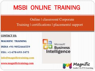 MSBI ONLINE TRAINING CLASSES TUTORIALS