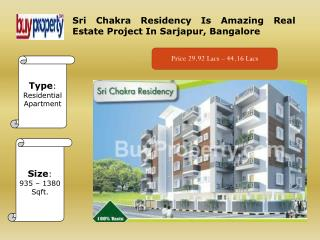 Sri Chakra Residency Real Estate Project In Bangalore