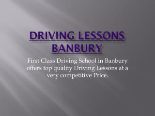 Driving lessons Banbury | Driving school Banbury
