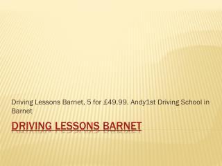 Driving lessons Barnet | Driving school Barnet