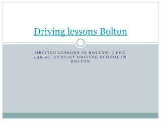 Driving lessons Bolton | Driving school Bolton