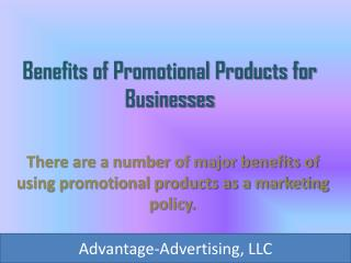 Benefits of Promotional Products for Businesses