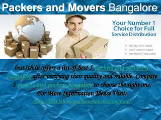 List of Best 5 Packers and Movers Pune - best5th.in