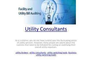 Utility Consultants