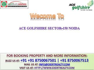 ACE GolfShire @ # 91 8750067501 @ 2 BHK Flats in Noida