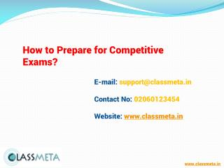 How to Prepare for Competitive Exams