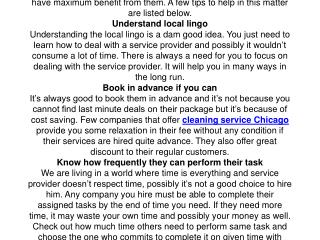 Tips for Hiring Professional Cleaning Service Chicago