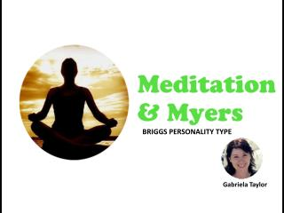 Meditation and Myers Briggs Personality Type