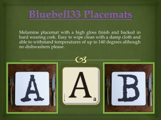 Bluebell33 Placemats